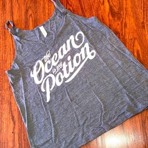 The ocean is my potion tank top size S